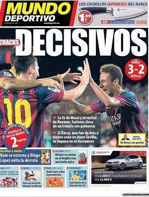Neymar capa Mundo Deportivo (Foto: Reprodução)