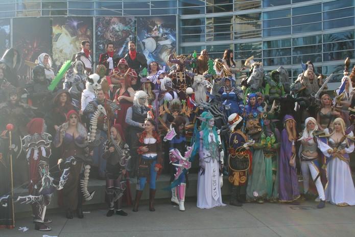 Encontro de cosplay é comum na BlizzCon (Foto: Felipe Vinha)