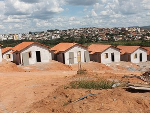 Conjunto habitacional em Carmo do Cajuru (Foto: Prefeitura de Carmo do Cajuru/Divulgação)