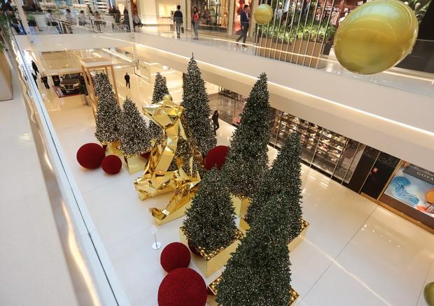 Decoração do Shopping JK Iguatemi (Foto: Lu Prezia)