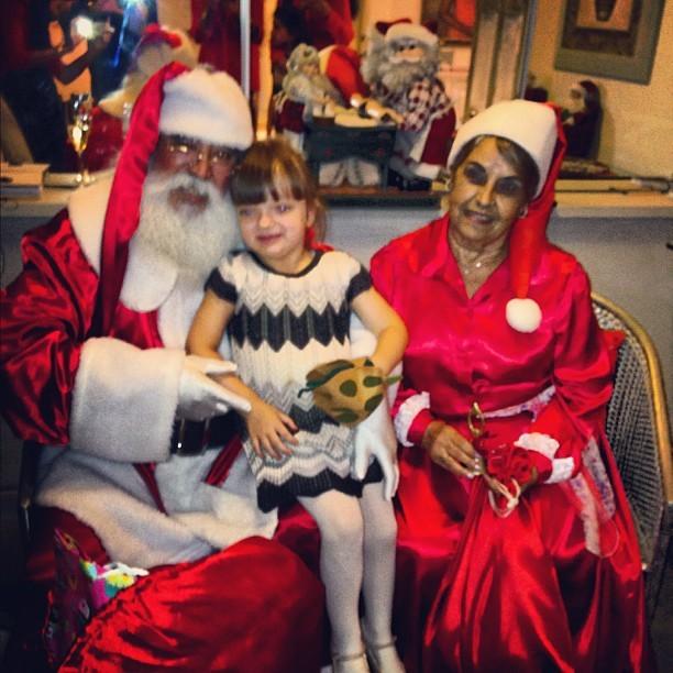 Rafa Justus com o Papai Noel (Foto: Instagram / Reprodução)