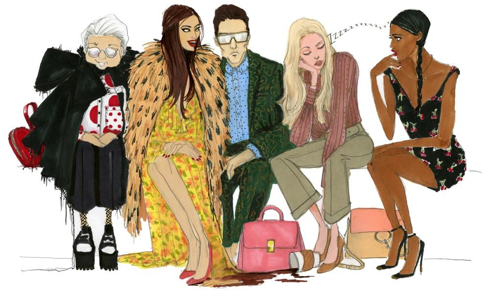 Como sobreviver a maratona de fashion weeks (Foto: Ilustração Julie Houts/Divulgação)