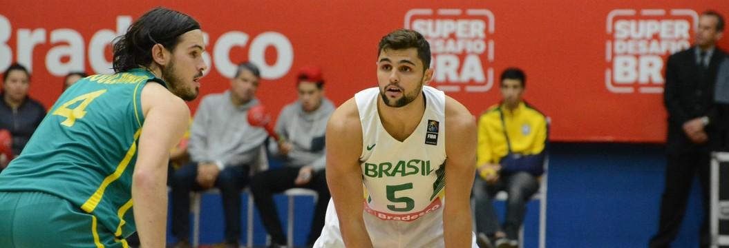 Brasil joga bem e vence Austrália por  29 pontos de vantagem em amistoso (Cairo Oliveira)