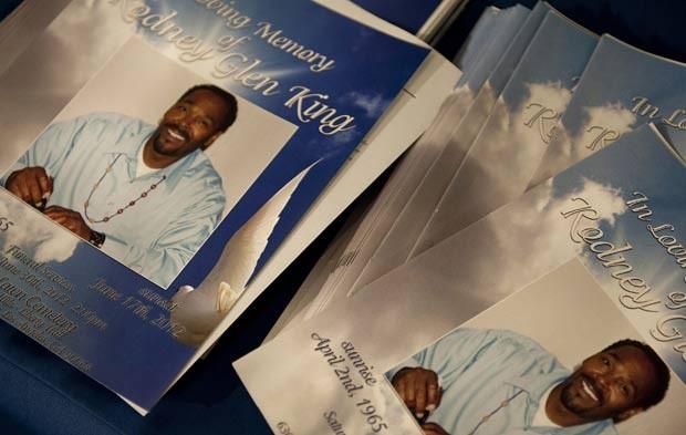 Rodney King foi sepultado em Los Angeles. (Foto: Grant Hindsley/AP)
