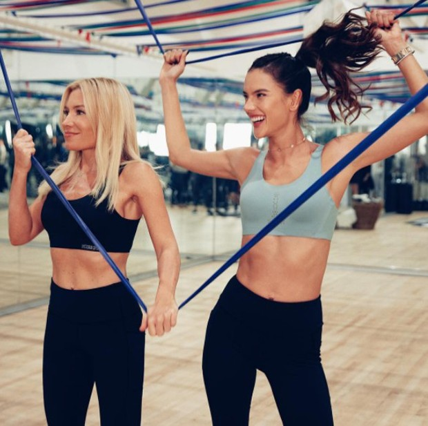 Tracy Anderson e Alessandra Ambrosio (Foto: Reprodução/Instagram)
