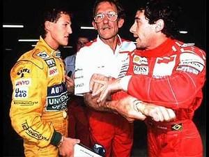 Ayrton Senna Michael Schumacher 1992 (Foto: Reprodução)