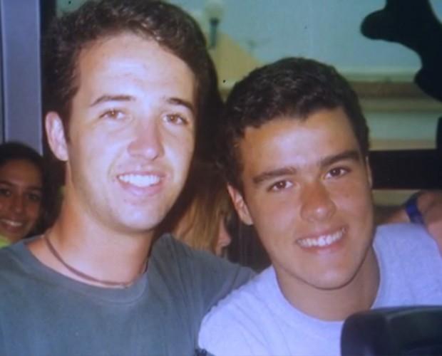 Joaquim Lopes e amigo de infância (Foto: Arquivo Pessoal)