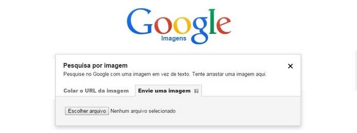 É possível fazer upload de fotos para pesquisar no Google Imagens (Foto: Reprodução/Raquel Freire)