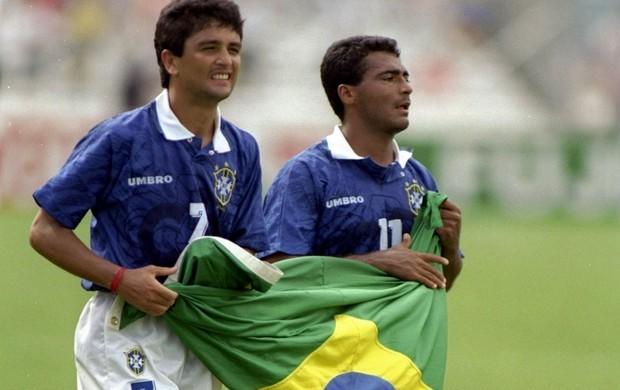bebeto e romário na copa do mundo de 1994 (Foto: Agência Getty Images)