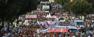 Marcha para Jesus reúne multidão no Rio e vai à Praça da Apoteose (Daniel Castelo Branco/Agência O Dia/Estadão Conteúdo)