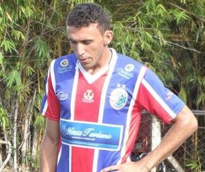 Batata mantém a liderança na artilharia do Tocantinense (Foto: Paulo Júnior/TV Lobão)
