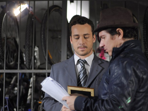 O ator Rodrigo Andrade e o diretor Bruno Saglia (Foto: Cauã Csik/ Divulgação)