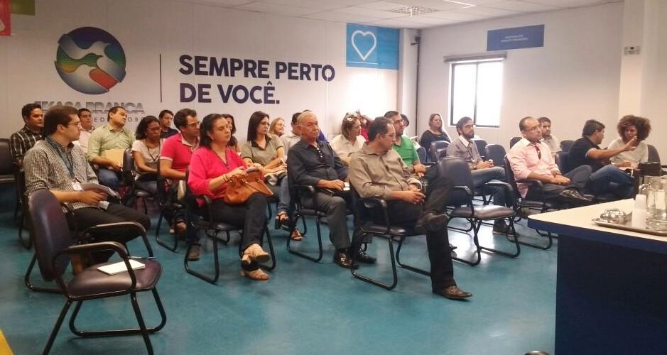 TV Asa Branca realiza reunião para discutir o projeto AB Cidadania (Foto: Sílvia França/ TV Asa Branca)