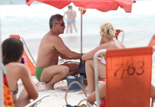 Oscar Magrini e Matilde Mastrangi (Foto: Henrique Oliveira /Foto Rio News)