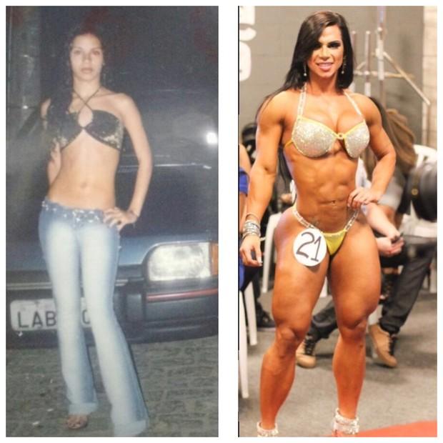 Antes e depois de Suelen Bissolatti (Foto: Reprodução/Arquivo Pessoal)