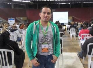 Voluntários Copa Porto Alegre ginásio tesourinha voluntário (Foto: Paula Menezes/GloboEsporte.com)