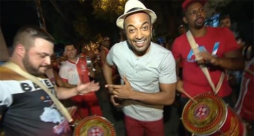 hoje é dia de escola de samba (Reprodução TV)