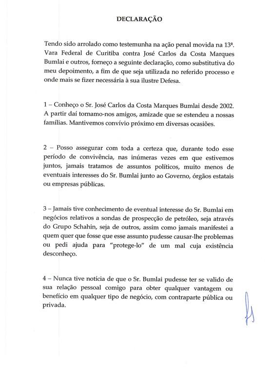 Declaração do ex-presidente Lula à Lava Jato p2 (Foto: Reprodução)