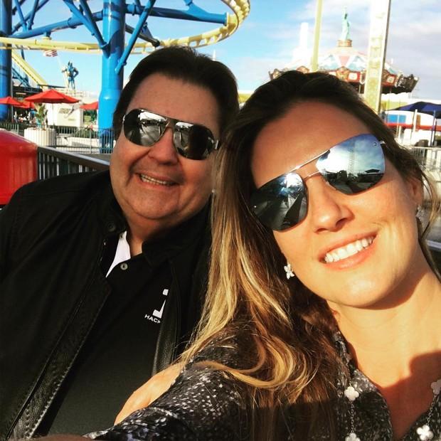 Faustão com a esposa (Foto: Reprodução / Instagram)