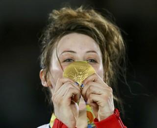 Britânica  Jade Jone, ouro, taekwondo (Foto: Reuters/ Peter Cziborra)