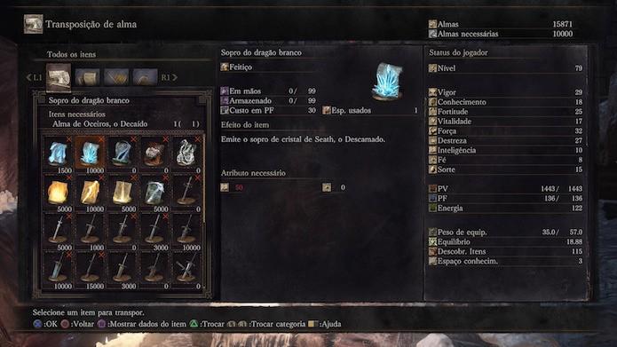Dark Souls 3: almas dos chefes podem virar armas, magias, anéis e itens (Foto: Reprodução/Victor Teixeira)