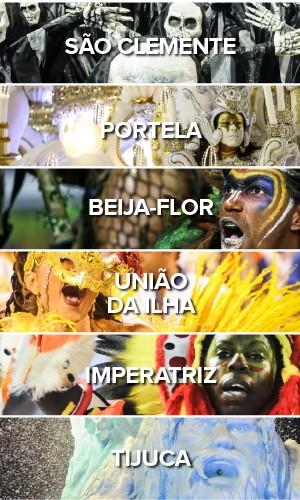 Todas as escolas - Segundo dia carnaval do Carnaval na Sapucaí (Foto: G1)