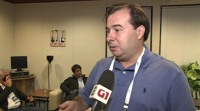 Rodrigo Maia fala sobre sua expectativa para o debate no Rio