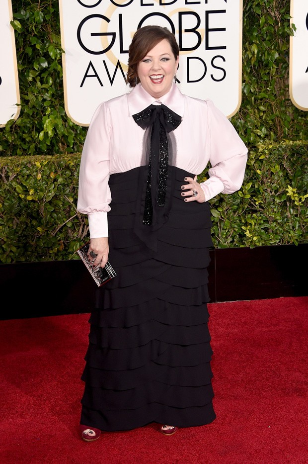 Melissa McCarthy no Globo de Ouro 2015. (Foto: Getty Images)