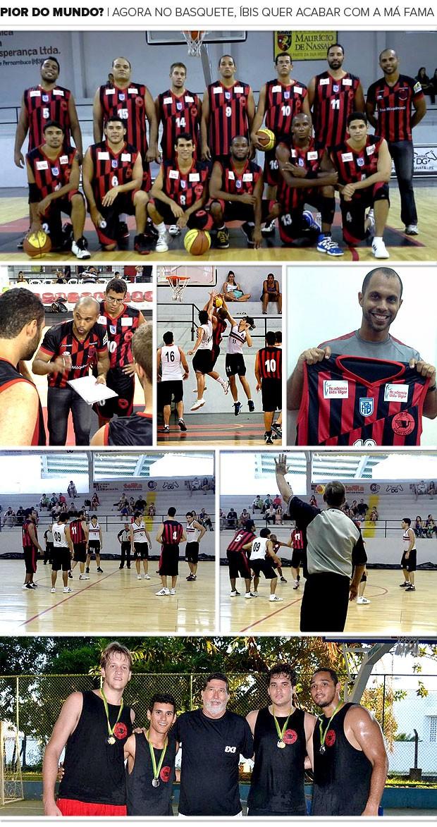 mosaico Íbis basquete (Foto: Editoria de Arte)