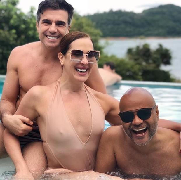 Jarbas Homem de Mello, Claudia Raia e Ale de Souza  (Foto: Reprodução/Instagram)