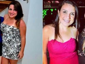 Thais perdeu 23 kg em 2 meses; fotos mostram antes e depois (Foto: Arquivo pessoal/Thais Teixeira Costa Zamith )