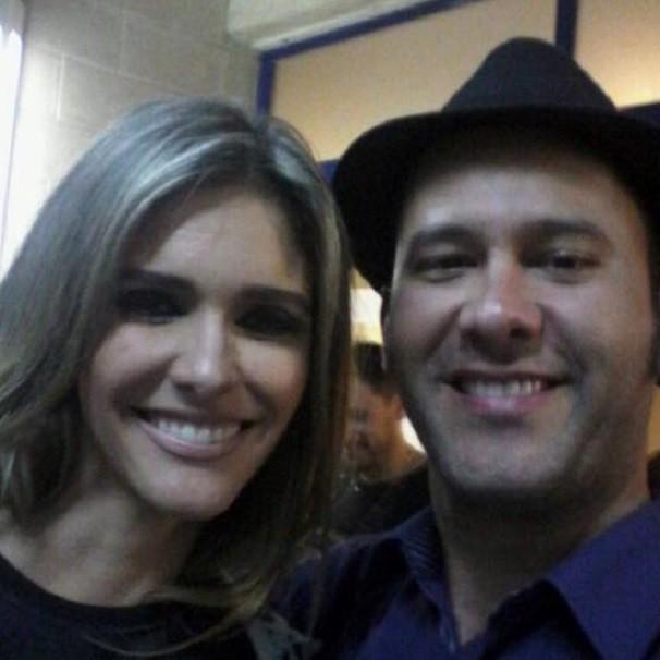 """""""Selfie"""" de Raule e Fernanda, nos bastidores do SuperStar (Foto: Arquivo pessoal)"""