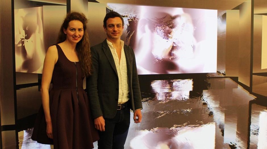 A empreendedora Laetitia Maffei e seu sócio, Frédéric Laffy, donos da galeria Laffy Maffei (Foto: Divulgação)