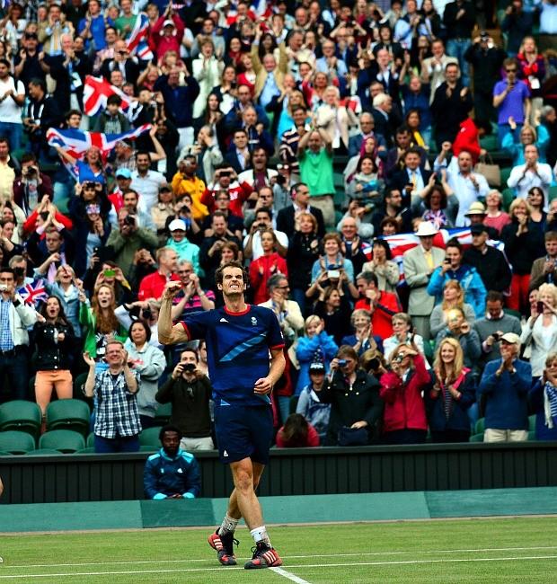 Fotos de Andy Murray, medalha de ouro em Londres 2012