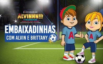 Embaixadinhas com Alvinnn!!! e Brittany