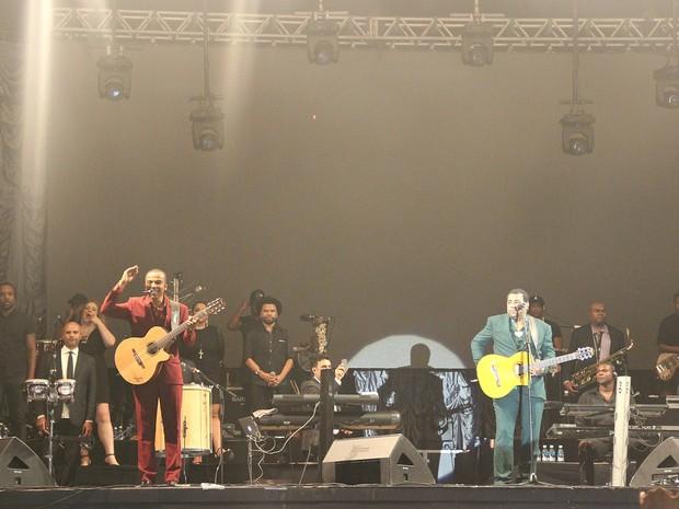 Gigantes do Samba fez o último show da turnê em Manaus na noite deste sábado (2) (Foto: Indiara Bessa)