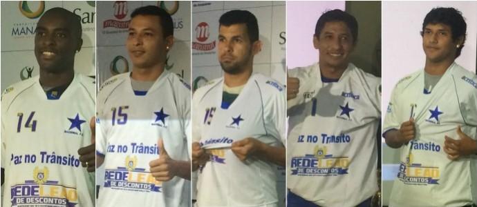 Nacional - atacantes de 2015 (Foto: GloboEsporte.com)