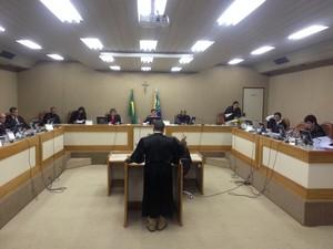 Pleno do Tjap decidiu afastar deputados nesta quarta-feira (23) (Foto: Abinoan Santiago/G1)