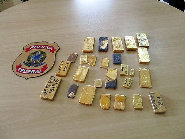 Segundo a PF, ouro era extraído em terras indígenas (Foto: Assessoria/PF)