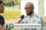 Felipe Melo fala sobre a fase do Palmeiras