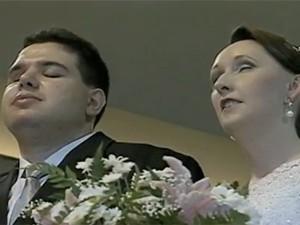 Noivos deficientes visuais se casaram em Giruá, RS (Foto: Reprodução/RBS TV)