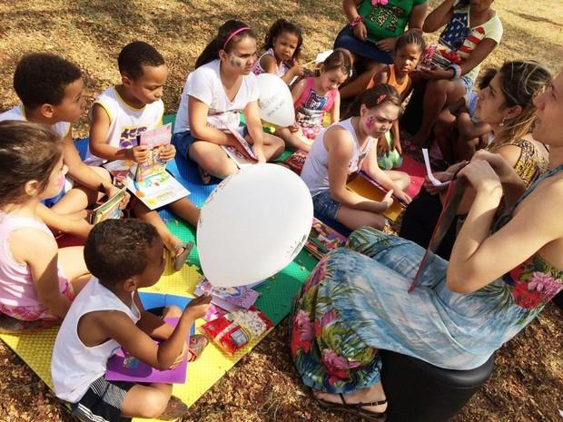 Projeto Leitura na Praça acontece em Campinas (Foto: Jamir Franchim)