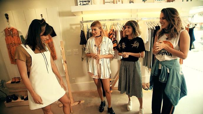 Irmãs Cady trocam de estilo no 'Expresso da Moda' (Foto: TV Bahia)