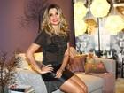 Flávia Alessandra fala sobre beijo no marido em cena: 'Com muita língua'