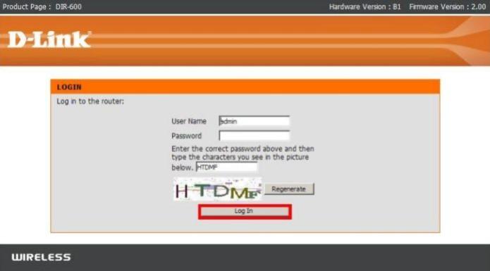 Esta é a tela de login do roteador DIR-600 (Foto: Reprodução/D-Link) (Foto: Esta é a tela de login do roteador DIR-600 (Foto: Reprodução/D-Link))