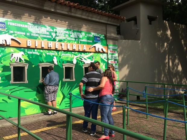 Zoológico do Rio é reaberto parcialmente ao público nesta terça (Foto: Fernanda Rouvenat/G1)