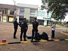 Polícia isola rua em Vilhena, RO, após suspeita de bomba em cooperativa