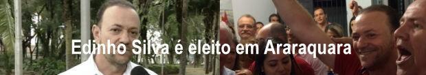 Edinho Silva venceu a disputa e se tornou prefeito de Araraquara (Foto: Reprodução/ EPTV)