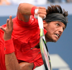 Feijão contra Djokovic no US Open (Foto: Reuters)