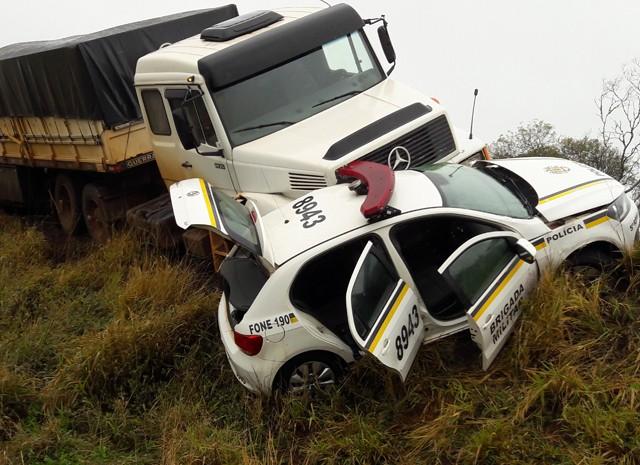 Acidente deixou três pessoas feridas (Foto: Jeremias Oliveira/Arquivo Pessoal)